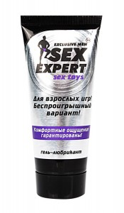 Гель любрикант SEX EXPERT  SexToys 50 г.испол. с секс игруш.