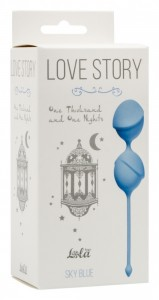 МС 3004-04Lola Вагинальные шарики Love Story One Thousand and One Nights Sky Blue